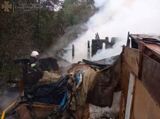 На Западной Украине горел цыганский лагерь