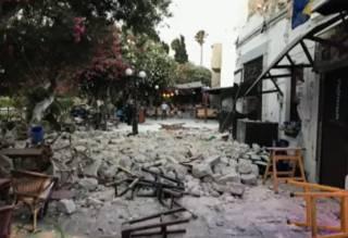 Опубликовано видео землетрясения на известном греческом острове