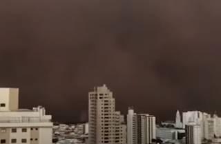 Опубликовано видео впечатляющей песчаной бури в Бразилии