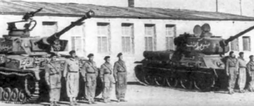 Panzer IV в одном строю с Т-34-85