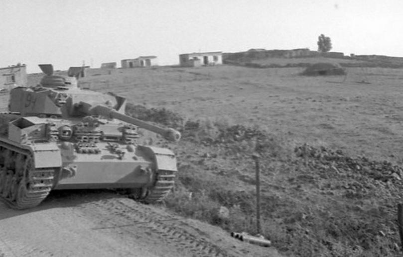 Panzer IV, брошенный на Голанских высотах в ходе Шестидневной войны