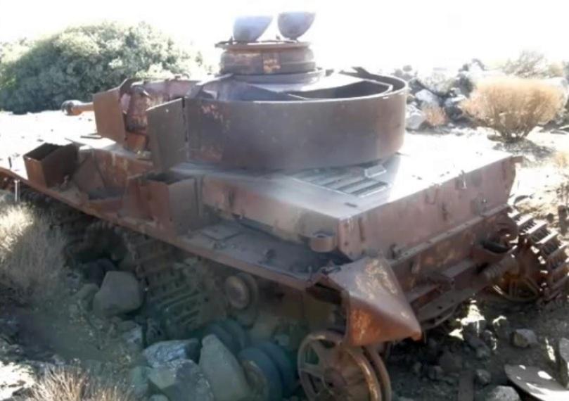 Остатки уничтоженного Panzer IV