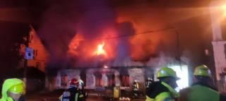 Рано утром в Киеве полыхал крупный пожар