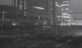 Сильное землетрясение в Токио попало на видео