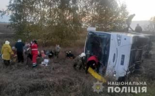 Пассажирский автобус перевернулся в Полтавской области – пострадало немало людей