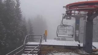 Популярный украинский горнолыжный курорт засыпало снегом