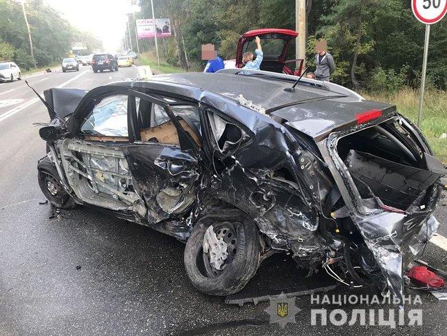 ДТП с участием 9 автомобилей в Голосеевском районе Киева